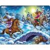 Larsen maxi puzzle 40 db-os Téli lovaglás US13