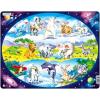 Larsen maxi puzzle 15 db-os Állatok a világ körül NM6