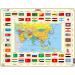 Larsen maxi puzzle 70 db-os Ázsia térkép és zászlók KL2