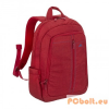 """RivaCase 7560 Laptop Canvas Backpack 15,6"""" Red"""