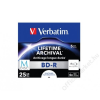 Verbatim BD-R BluRay lemez, archiváló, nyomtatható, M-DISC, 25GB, 6x, normál tok, VERBATIM (BRV-4AR1N)