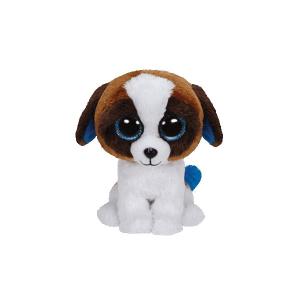 Duke kutyus plüssfigura - 15 cm, barna-fehér