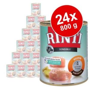RINTI Sensible gazdaságos csomag 24 x 800 g - Bárány & rizs