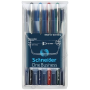 Rollertoll készlet, 0,6 mm, SCHNEIDER One Business, 4 szín (TSCOBK4)