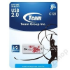 Team Group Inc. PENDRIVE 8GB TEAM C121 FEHÉR TYPE 2 (piros sárkány) (H)