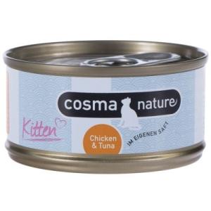 Cosma Nature Kitten gazdaságos csomag 24 x 70 g - Csirke & tonhal