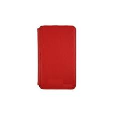 Samsung EF-C1B1NBECSTD oldalra nyíló támasztós gyári bőrtok Galaxy Note Tab 5.3-hoz piros (N7000)* tablet tok