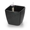 G21 önöntöző kaspó Cube 22 cm, fekete