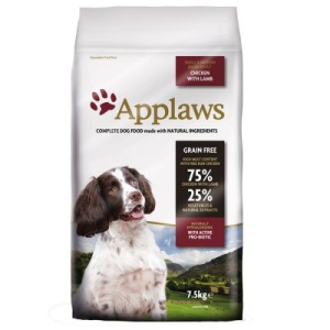 Applaws Adult Small & Medium Breed csirke & bárány - 7,5 kg