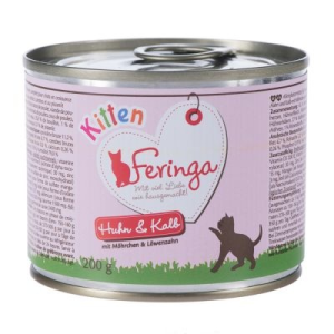 Feringa Kitten 6 x 200 g - Pulyka, tök & macskamenta
