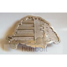 Hunbolt Nagy-Magyarországos övcsat ezüst színű (fém, 10x7 cm)