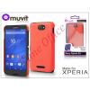 Made for Xperia MUVIT Sony Xperia E4 (E2104/E2105) hátlap - Made for Xperia Muvit Soft Touch - orange