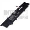 VivoBook S300 Series 4000 mAh 3 cella fekete notebook/laptop akku/akkumulátor utángyártott