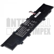 VivoBook S300 Series 4000 mAh 3 cella fekete notebook/laptop akku/akkumulátor utángyártott asus notebook akkumulátor