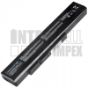 MSI A6400 Series 4400 mAh 6 cella fekete notebook/laptop akku/akkumulátor utángyártott