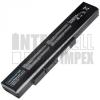 MSI CR640DX Series 4400 mAh 6 cella fekete notebook/laptop akku/akkumulátor utángyártott