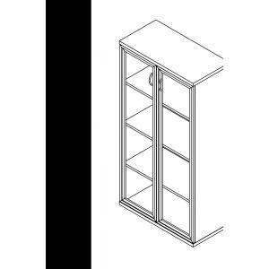 Megrendeléstől számított kb. 2 hét 156-2A-Ü-ALU üvegajtós szekrény (4 rendező magas szekrény alukeretes üvegajtóval)