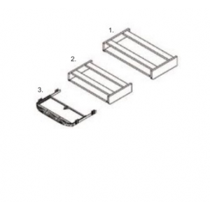 9-KL-MŰ (55x564x420 mm-es műanyag klaviatúratartó )