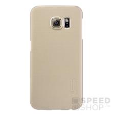 Nillkin Super Frosted hátlap tok Samsung G925 Galaxy S6 Edge, arany + ajándék kijelzővédő fólia tok és táska