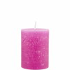 RUSTIC gyertya pink 6.8x9cm 45h