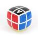 V-Cube 2x2 versenykocka, fehér, lekerekített, matrica nélküli