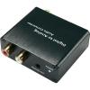 SpeaKa Professional D/A konverter, digitális/analóg audio átalakító 1 x optikai Toslink, SPDIF bemenetről 2 x RCA, 3,5mm-es jack kimenetre Speaka Professional