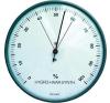 Hajszálas higrométer, páratartalommérő, ezüst, O 103 x 35 mm időjárásjelző