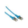 RJ45 Hálózati csatlakozókábel, CAT 6A S/FTP [1x RJ45 dugó - 1x RJ45 dugó] 7 m, kék BTR Netcom