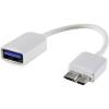 Renkforce USB kábel OTG funkcióval, 1x USB 3.0 Micro B csatlakozó - 1 x USB 2.0 csatlakozó A, 0,10 m, fekete, Renkforce