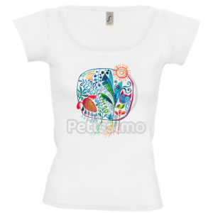 Petissimo tavaszi női póló - fehér M