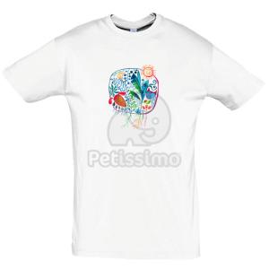 Petissimo tavaszi férfi póló - fehér S