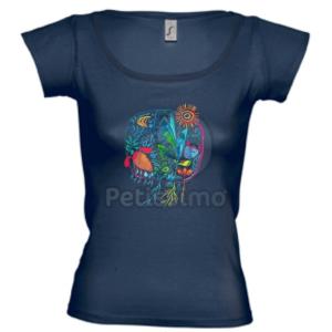 Petissimo tavaszi női póló - kék M