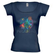 Petissimo tavaszi női póló - kék S női póló
