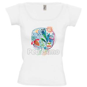 Petissimo tavaszi női póló - fehér L