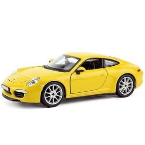 BBurago Bburago: Porsche 911 Carrera S fém autó sárga színben 1/24