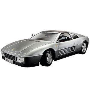 BBurago Bburago: Ferrari 348ts fém autó ezüst színben 1/18