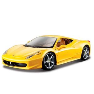 BBurago Bburago: Ferrari 458 Italia fém autó sárga színben 1/24