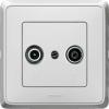 LEGRAND Cariva TV-RD aljzat végzáró 1,5 dB fehér Legrand