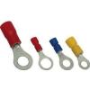 Tracon Electric Szigetelt szemes saru, ónozott elektrolitréz, sárga - 25mm2, M5, (d1=7,8mm, d2=5,3mm), PA SSZ25-5 - Tracon