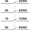 Tracon Electric Homlokoldali segédérintkező TR1K segédkontaktorokhoz - 230V, 50Hz, 2A, 4xNO TR5KN40 - Tracon
