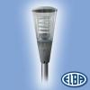 Elba Dekoratív közterületi lámpa AVIS 02M 1x100W nátrium, szürke, átlátszó búra, fehér acéllemez reflektor, karok nélkül IP66 Elba