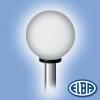 Elba Dekoratív közterületi lámpa GLOBOLUX 1x10W E27 d=400mm PMMA opál búra IP44 Elba