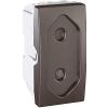 Schneider Electric UNICA TOP Csatlakozóaljzat védőföldelés nélkül gyerekvédelemmel 10 A IP20 Grafit MGU3.031.12 - Schneider Electric