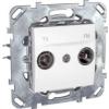 Schneider Electric UNICA PLUS TV-FM aljzat végzáró IP20 Fehér MGU50.452.18Z - Schneider Electric