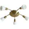 Rabalux Mennyezeti spot lámpa 5 ágú bronz/fehér opál Soma 6310 Rábalux