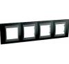 Schneider Electric UNICA TOP Fém Négyes keret Vízszintes IP20 Fekete MGU66.008.293 - Schneider Electric villanyszerelés