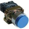Tracon Electric Tokozott kiálló nyomógomb, fémalapra szerelt, kék - 1xNO, 3A/240V AC, IP44 NYGBL61KT - Tracon