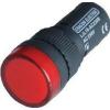 Tracon Electric LED-es jelzőlámpa, piros - 24V AC/DC, d=16mm LJL16-RC - Tracon