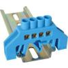 Tracon Electric Szigetelt földelősín (N/PE), kék - 230/400V, 100A, 6x9mm, 4P, IP20 NPE-B6-4 - Tracon
