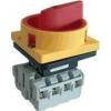 Tracon Electric Tokozott biztonsági lakatolható szakaszoló kapcsoló, sárga - 400V, 50Hz, 20A, 3P, 5,5kW, 48x48mm, IP44 TSS-203TS - Tracon